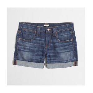 J. Crew Cuffed Denim Shorts